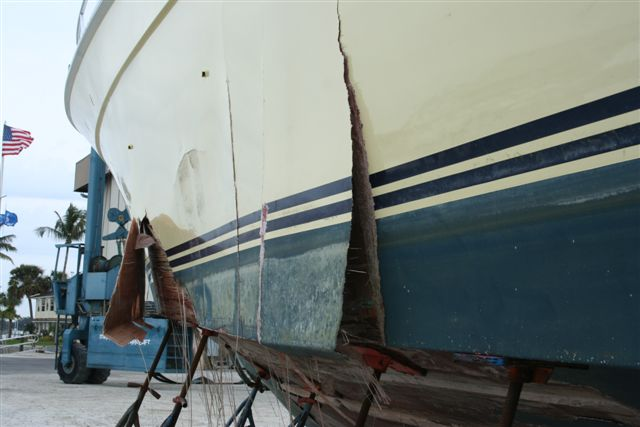 sailboat deck delamination repair